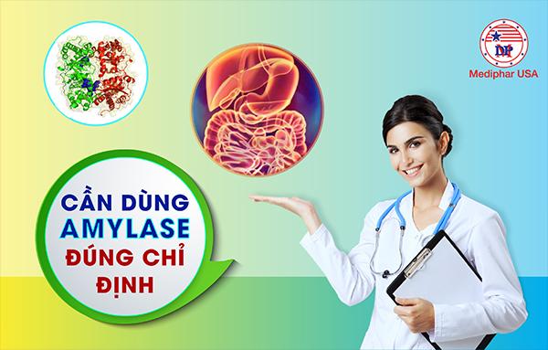 Cần sử dụng Alpha-Amylase đúng chỉ định
