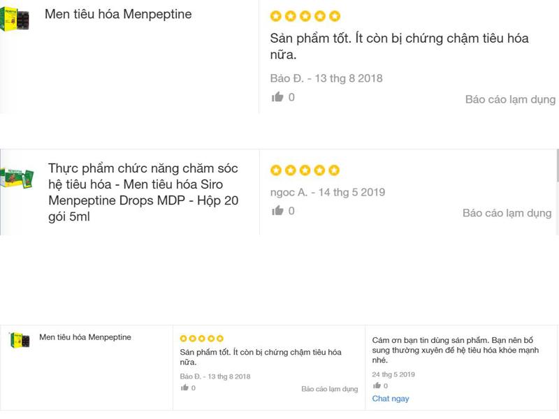 Review Menpeptine trên Lazada