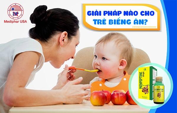 Men tiêu hóa Menpeptine - Giải pháp hoàn hảo cho trẻ biếng ăn