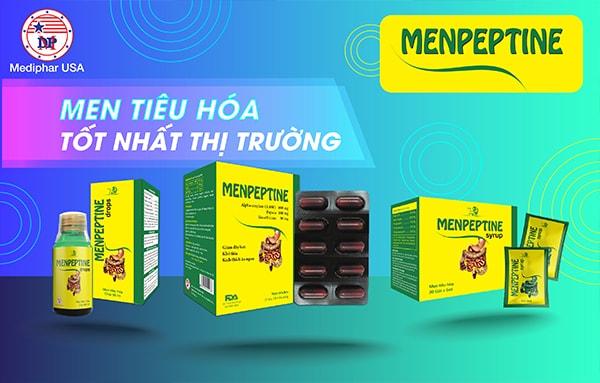 Men tiêu hóa Menpeptine - Sản phẩm khuyên dùng giúp giảm các triệu chứng rối loạn tiêu hóa