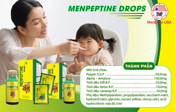 Thành phần Menpeptine dạng siro