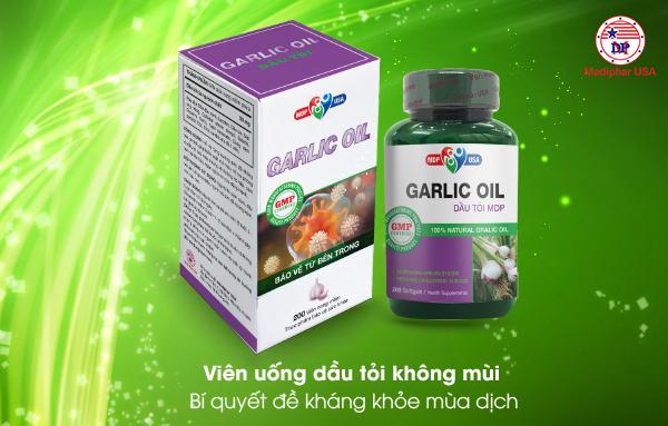 Viên dầu tỏi Garlic Oil không mùi