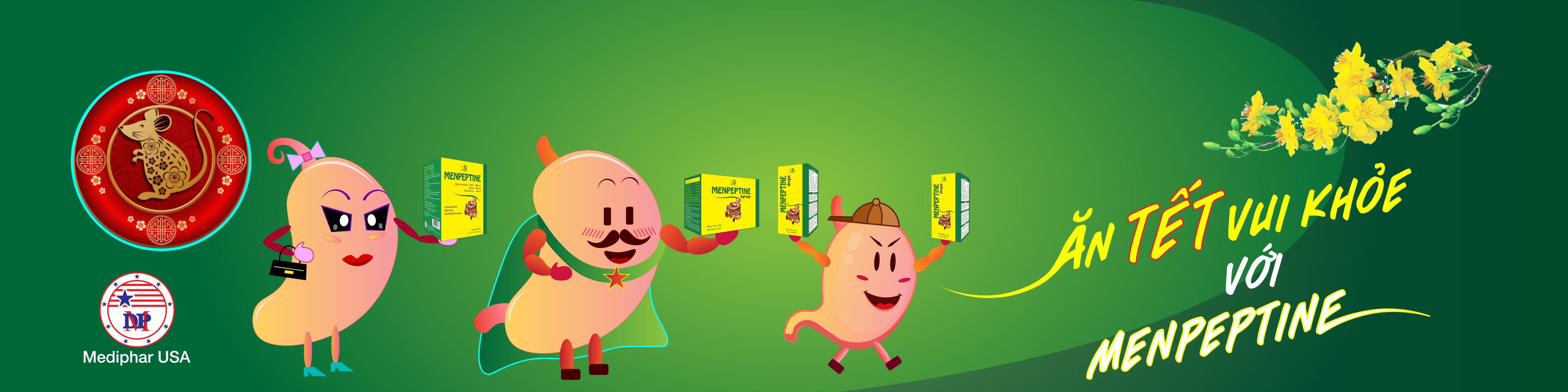 ăn tết vui khỏe với men hỗ trợ tiêu hóa menpeptine