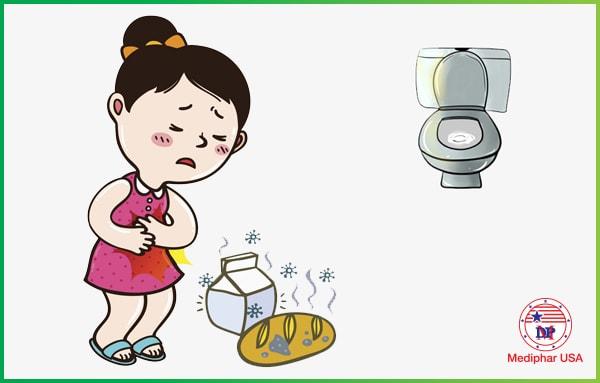 Ảnh hưởng từ thức ăn, đồ uống ôi thiêu, cũng có thể gây đau bụng, đi ngoài