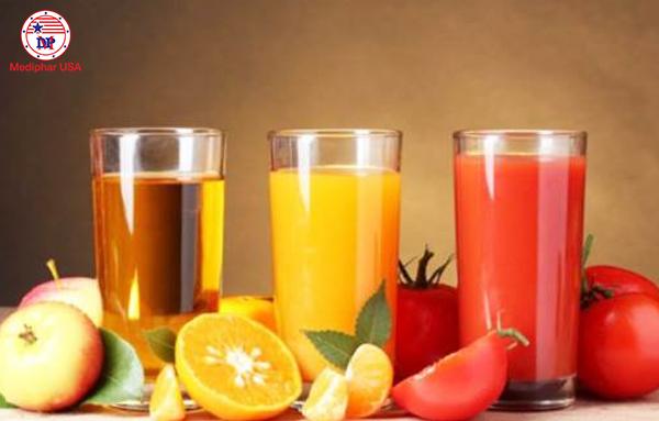 Dùng nước trái cây cũng rất tốt cho hệ tiêu hóa đang gặp trục trặc