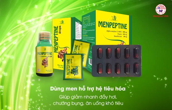 Menpeptine - Men hỗ trợ tiêu hóa được người tiêu dùng bình chọn tốt nhất hiện nay.
