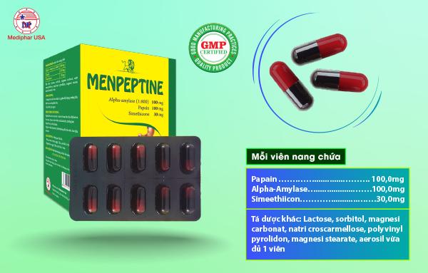 Thành phần Menpeptine viên nang