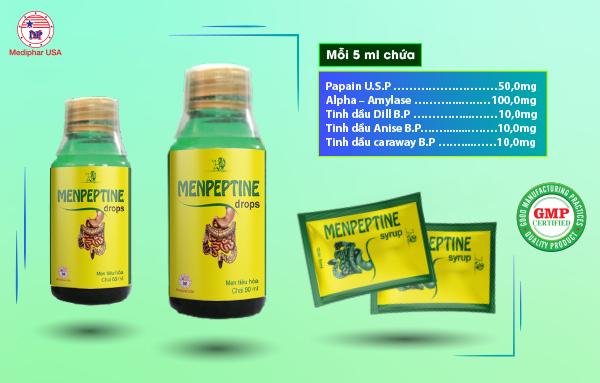 Thành phần Menpeptine dạng siro uống